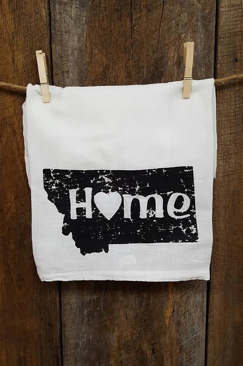 """Montana Home"" tea towel"