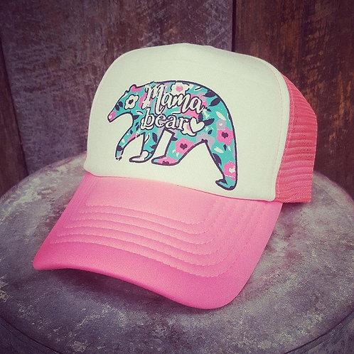 Mama Bear Floral Hats