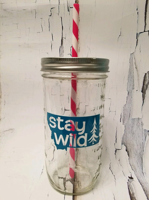 Stay Wild Mason Jar