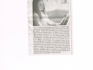 In the Newspaper and Radio in France for a Concert in Provence!