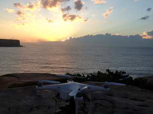 Filming with the Drone the video Clip Bleue