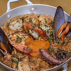Risoto de frutos do mar (sazonal consulte o garçom)