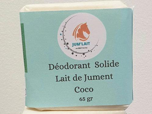 Déodorant solide lait de jument, coco