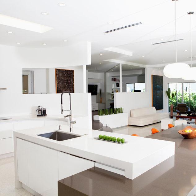 明亮,現代化的廚房