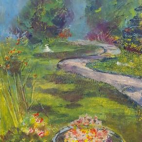 Linda's Galewood Garden - Sennelier Pastel