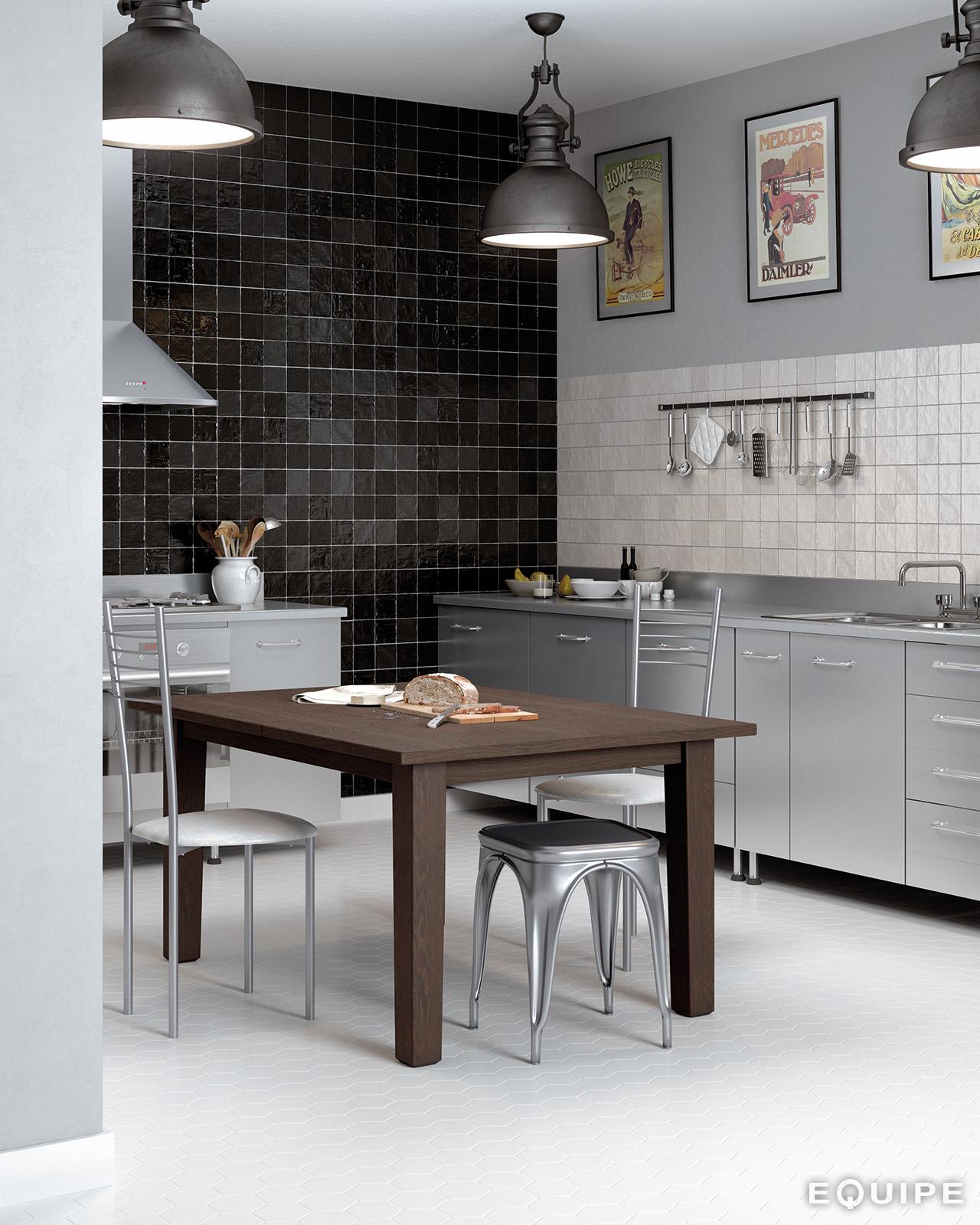 Mallorca 100x100 B&W Kitchen