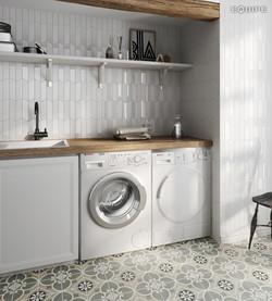 ChevronWall white_white matt kitchen