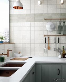 Mallorca White Green Kitchen
