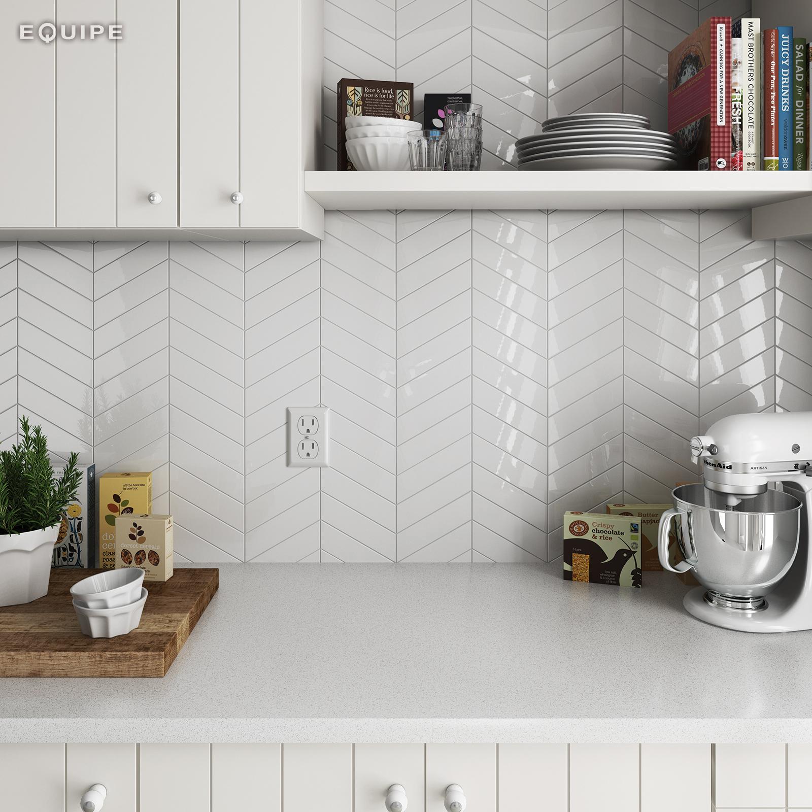 ChevronWall white kitchen