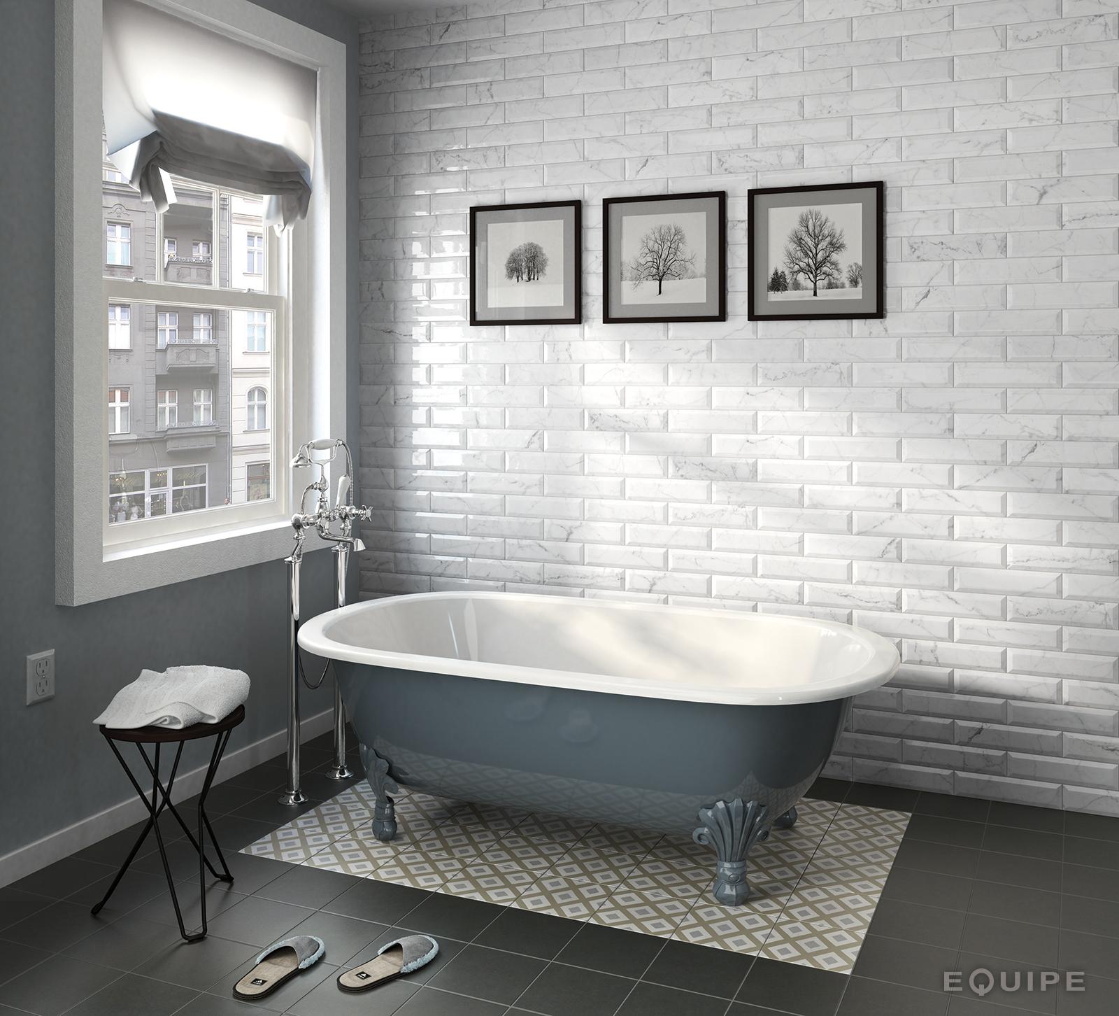 Carrara metro 7,5X30 brillo bath