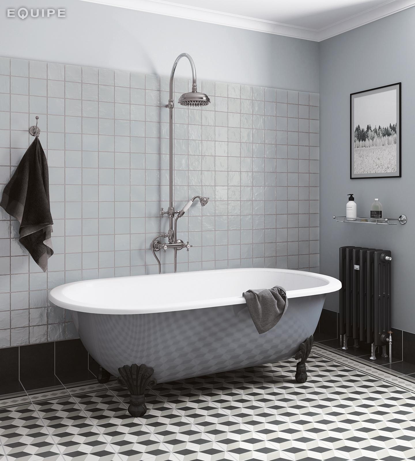 Mallorca 100x100 blue bathroom