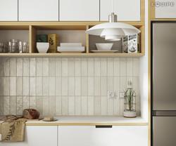 Mallorca 65x200 green kitchen