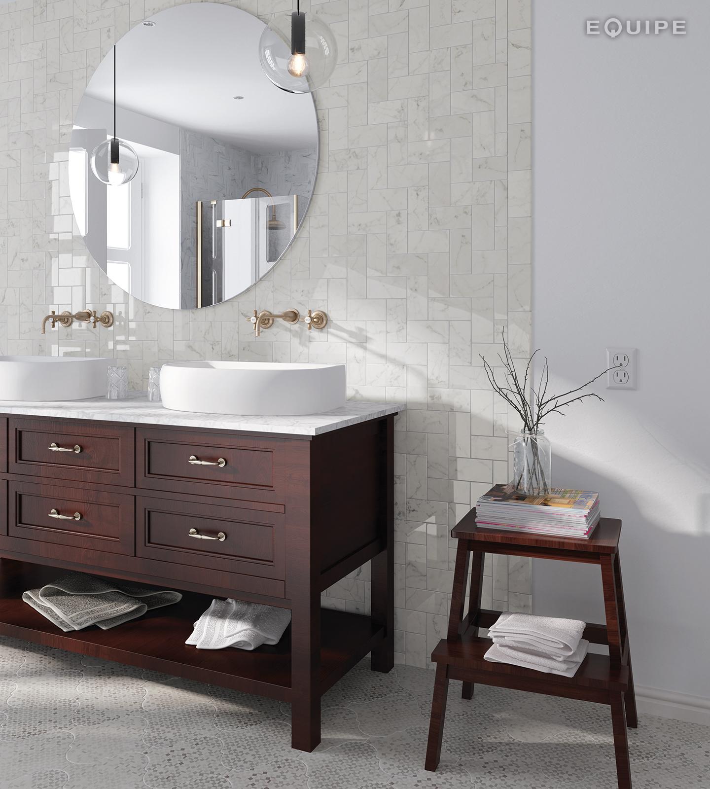 Carrara7,5x15 brillo bath