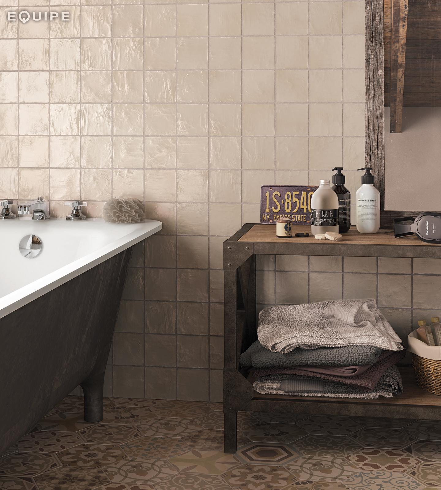 Mallorca 100x100 cream bathroom