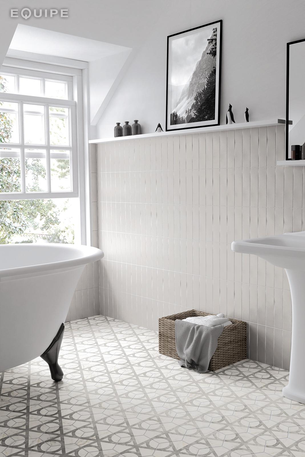 CarraraHexagonFlow bath