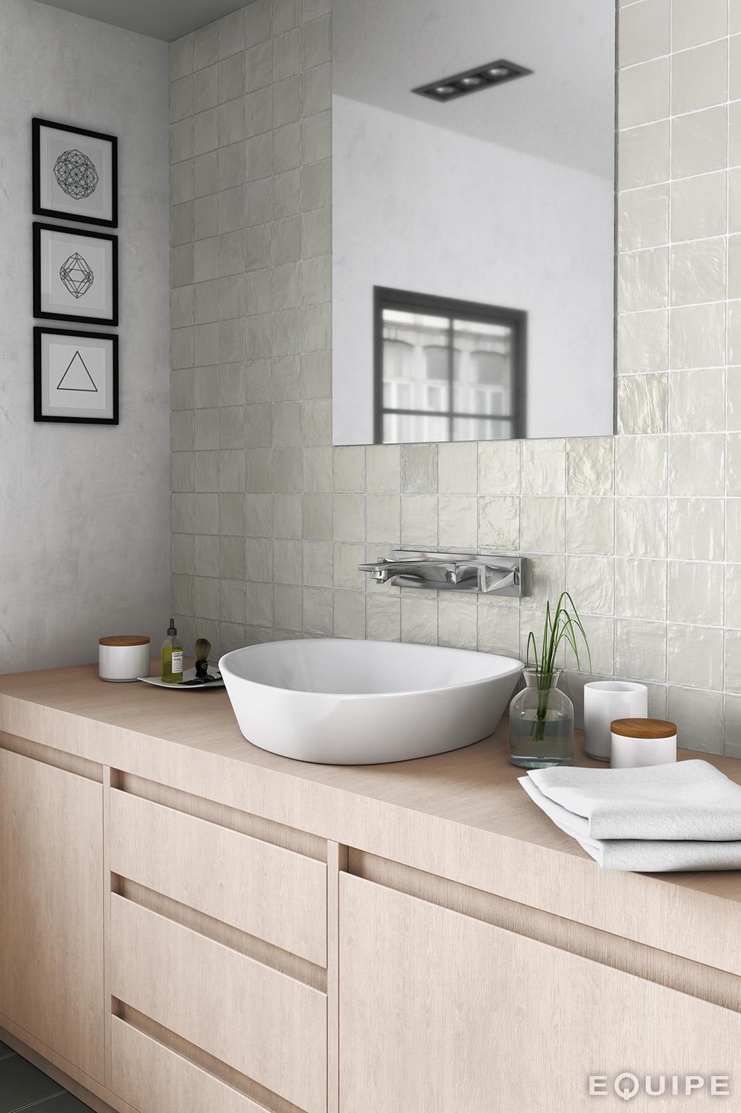 Mallorca 100x100 Green bathroom