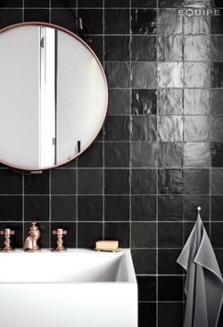 Mallorca 100x100 Black Bathroom