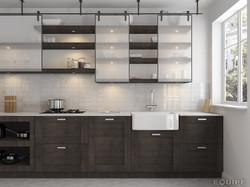 Carrara7,5x30 brillo kitchen