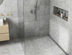 URBAN silver 20X20 mosaico bano