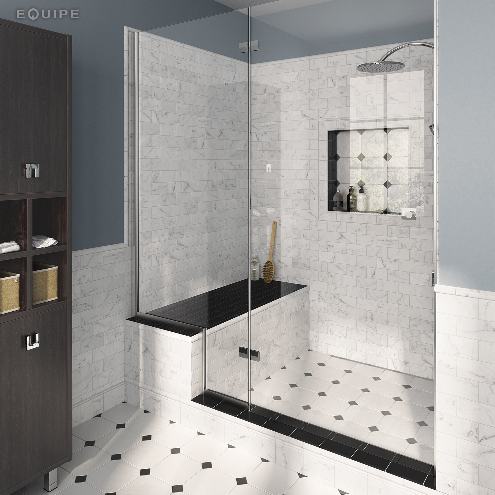 Carrara7,5x15 brillo pencil bath