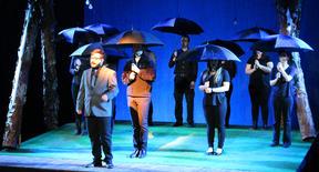 Umbrellas Up