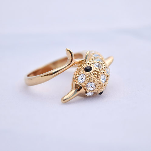 Dolphin Ring gold color 6.5