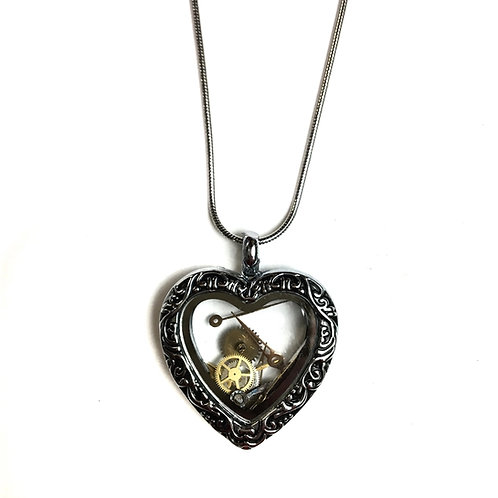 Delicate Heart Steampunk Necklace