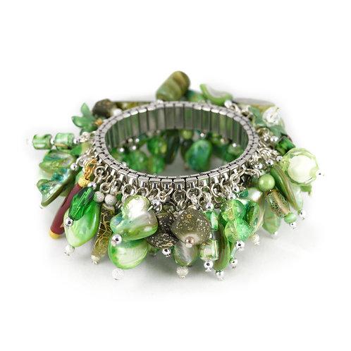 Green Shell Bead Cha Bracelet cha001