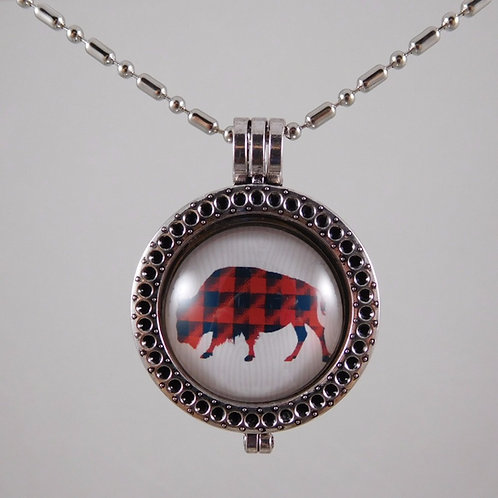 Buffalo Spirit Animal Necklace