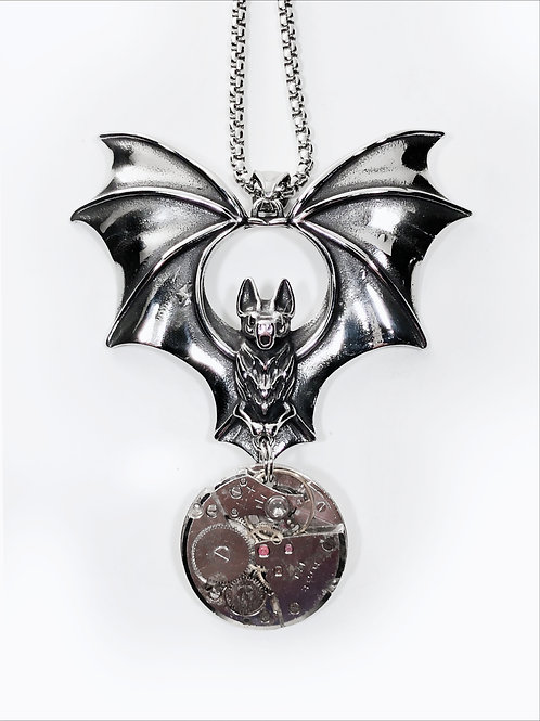 Simply Batty Steampunk Necklace
