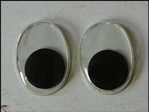 18mm oval wiggle eyes (10 pcs)