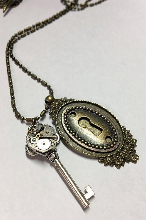 Lock & Key Steampunk Necklace