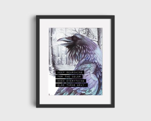 Raven series prints