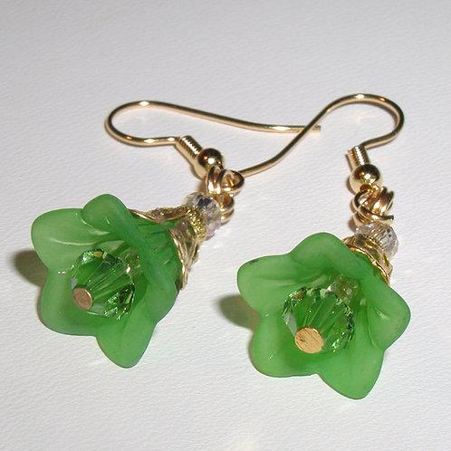 Emerald Sprite Flower Earrings