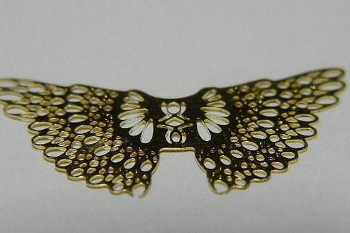 Mini gold Filigree Angel Wings 10 pcs