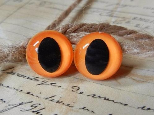 L.S. Orange Cat Eyes (5 pairs)