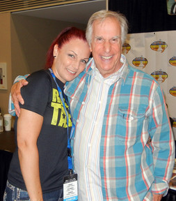 With Henry Winkler (The FONZE !)