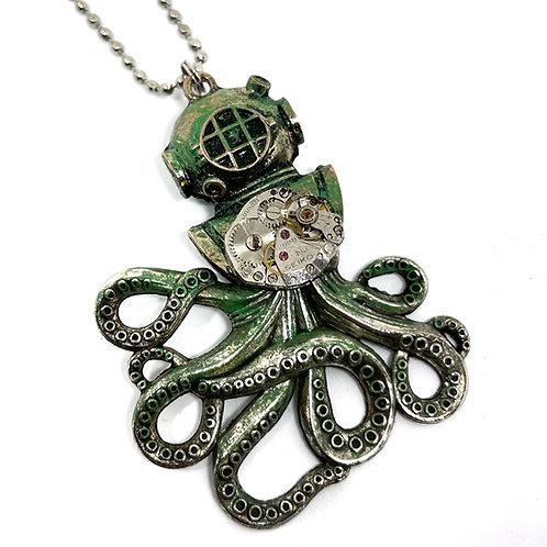 Patina Scuba Stempunk Necklace