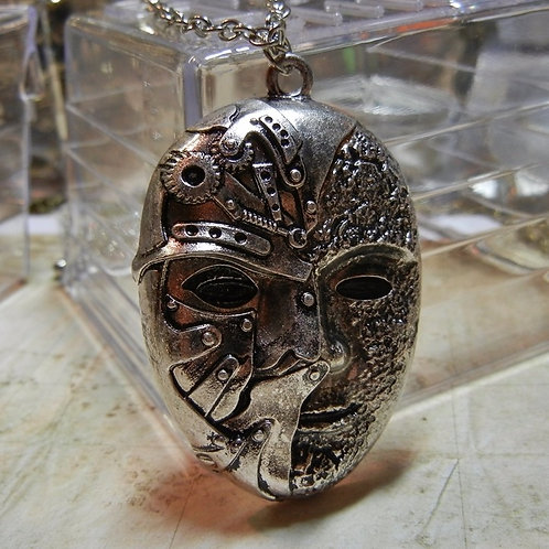 Warrior Mask Steampunk Necklace