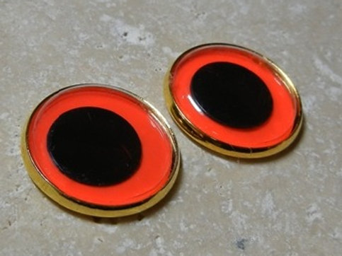 22mm orange wiggle (1pr)