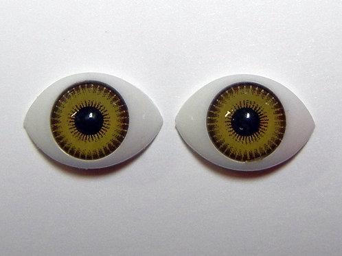 Black & Yellow Doll Eye 1 pair