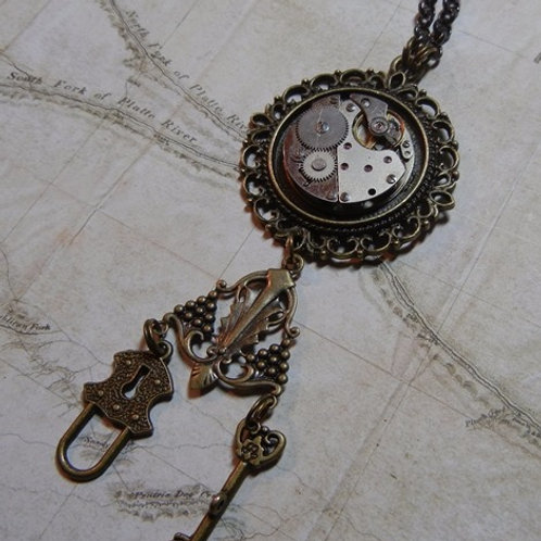 Lock and Key Steampunk Necklace