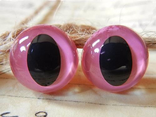 Pink Cat Eyes (5 pairs)