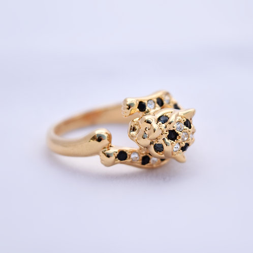 Leopard Ring gold color 7.5