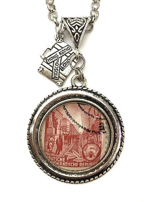 Berlin 1955 Vintage Stamp Necklace