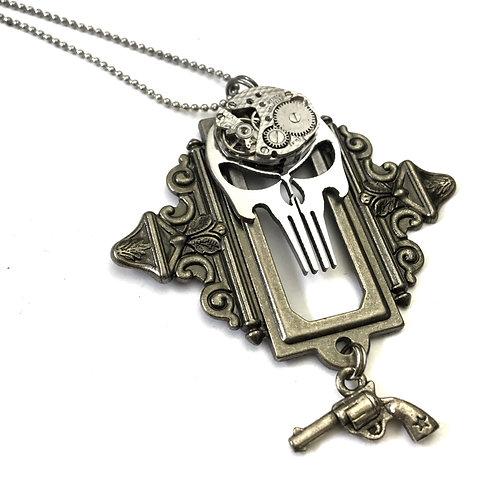 Steampunk Punisher Necklace