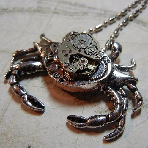 Crab Steampunk Necklace