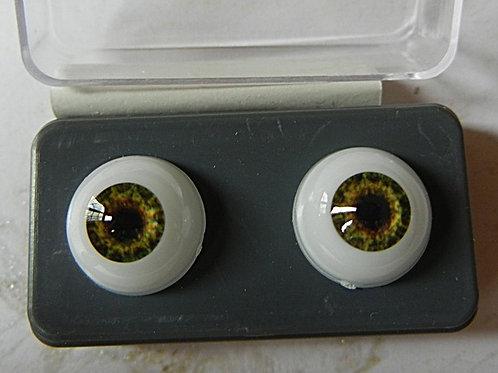 Glastic Doll Eye Hazel  (1 pair)