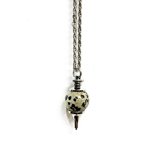 Dalmation Jasper Ball Necklace