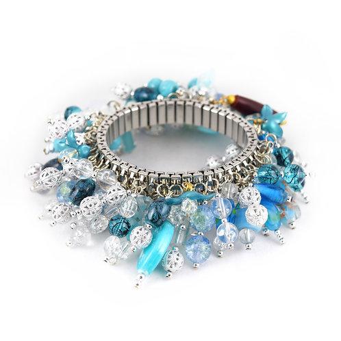 Crystal Snowflake Cha Bracelet cha015